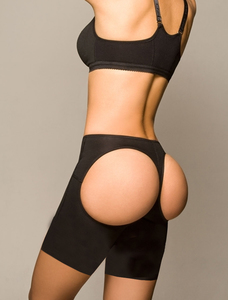 Seamless buttlifter boyshort zwart billenbroekje
