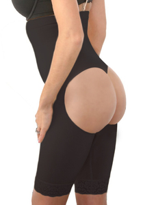 High waist butt lifter zwart