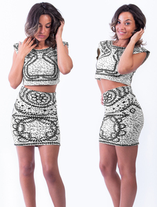 Two piece dress wit