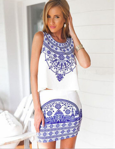 Porcelain 2 piece dress