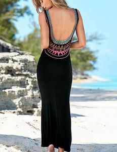 Zwarte ibiza maxi jurk