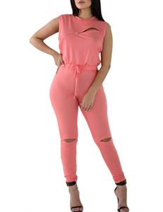 Roze jumpsuit
