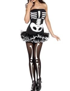 Strapless skelet zwart