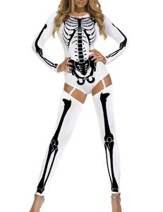 Sexy skelet pakje wit