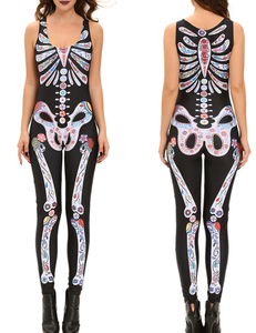 Halloween skelet jumpsuit