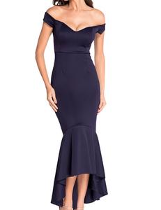 Blauwe mermaid jurk