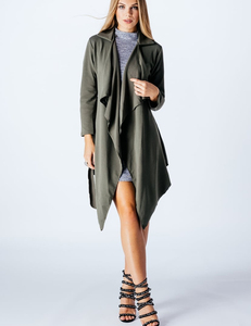Kaki waterfall coat