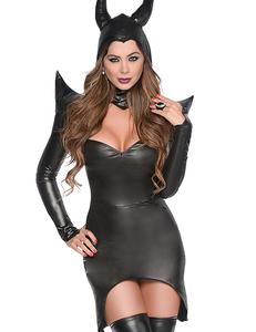 Zwarte tovenares kostuum
