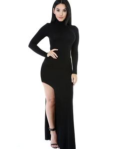 Black maxi jurk