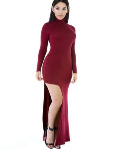 Bordeaux maxi jurk
