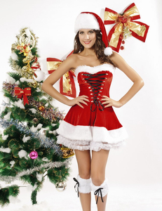 Christmas corset dress