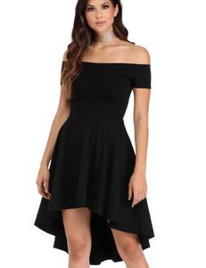 Zwart skater jurkje