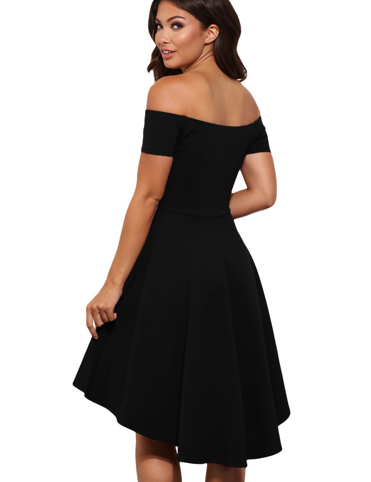 off shoulder dress zwart