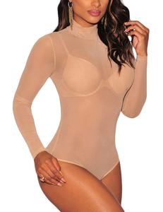 Nude transparante bodysuit