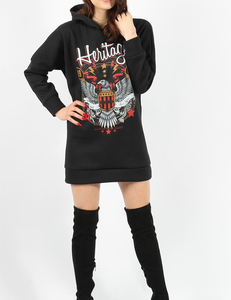 Heritage hooded sweater zwart