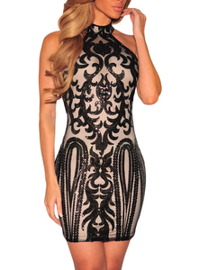 Vintage sequin jurk zwart