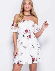 White floral bardot
