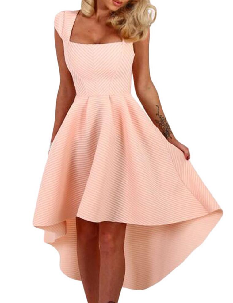 Roze skater jurk