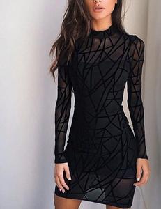 High neck transparant dress