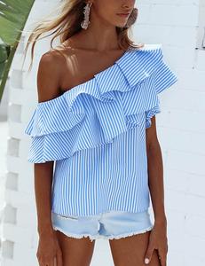 Striped blue top