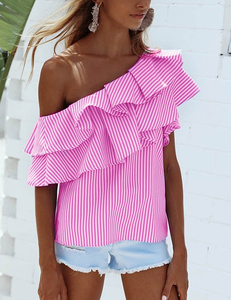 Striped pink top