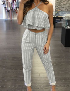 Grey striped set