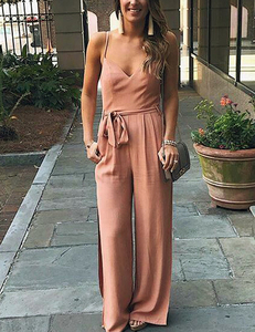 Off pink jumpsuit