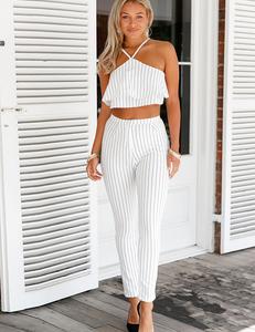 White striped set