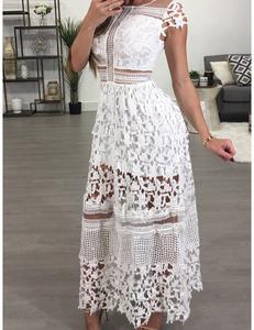 Wit kanten maxi jurk