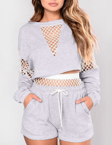 Fishnet 2piece wit