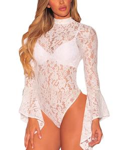 Lacey bodysuit wit