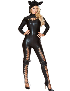 Leather jumpsuit halloween
