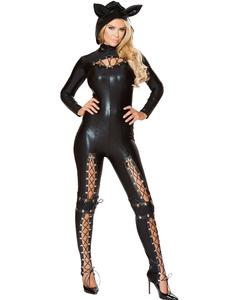 Leather jumpsuit halloween