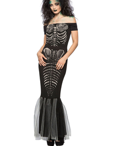 Skelet mermaid dress