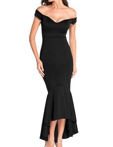 Zwarte mermaid jurk