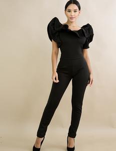 Dramatic jumpsuit zwart