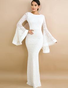 Witte elegante jurk