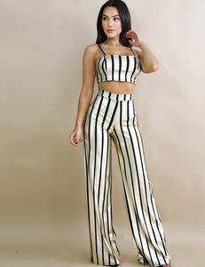 Gold striped set