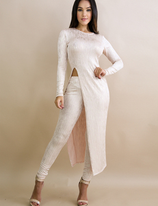 Sparkle blush pants set