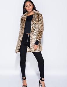 Leopard faux bontjas