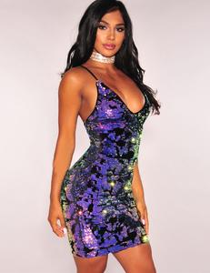 Gekleurde paillette jurk