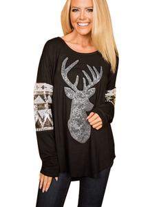 Sequin christmas sweater black