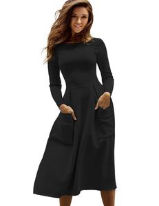 Scuba dress black