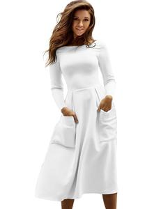 Scuba dress white