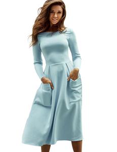 Scuba dress blue