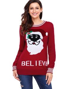 Black santa christmas sweater