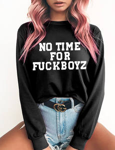 No time for fckboys zwart