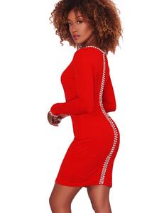 Pearled dress rood