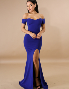 Maxi mermaid dress Royal blue