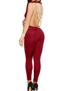Pearl jumpsuit rood